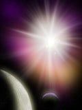 Stjärna och planet Fotografering för Bildbyråer