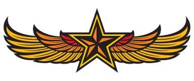 Stjärna och vingar royaltyfri illustrationer