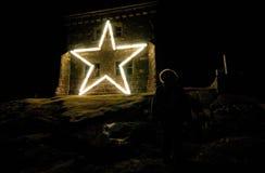 Stjärna på Cabot Tower royaltyfri foto
