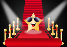 Stjärna på röd matta royaltyfri illustrationer