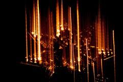 Stjärna som gör suddig med ljus Arkivbild