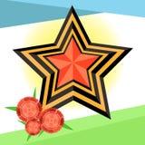 Stjärna till dagen av 9 Maj Arkivfoto