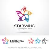 Stjärna Wing Logo Template Design Vector Arkivfoton