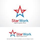Stjärnaarbete Logo Template Design Vector, emblem, designbegrepp, idérikt symbol, symbol Arkivbild