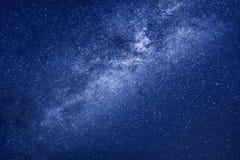 Stjärnabakgrund för mjölkaktig väg Arkivbild