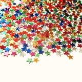 Stjärnabakgrund med kopieringsutrymme Makro scatter Royaltyfri Foto