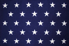 Stjärnabakgrund på en amerikanska flaggan Royaltyfri Bild