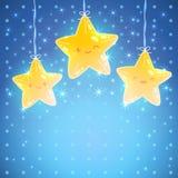 Stjärnabakgrund. Vektorillustration för bra natt Royaltyfri Foto