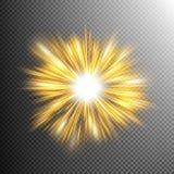 Stjärnabristningar för ljus effekt 10 eps stock illustrationer