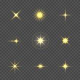 Stjärnabristningen med mousserar Royaltyfria Foton