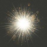 Stjärnabristningseffekt med mousserar 10 eps royaltyfri illustrationer