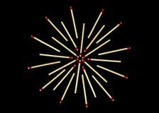 Stjärnadesign med matcher som isoleras Royaltyfri Foto