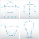 StjärnadiagramSet vektor illustrationer