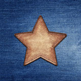 Stjärnaetikett royaltyfri bild