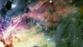Stjärnafält i djupt utrymme stock video