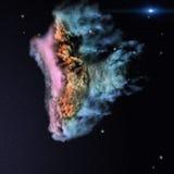 Stjärnafält och nebulosa i djupt utrymme Arkivfoto