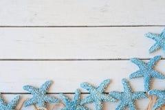 Stjärnafisk, strand, baner Arkivfoto