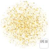 Stjärnaformkonfettier spridda på vit Royaltyfri Fotografi