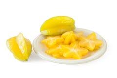 Stjärnafrukt eller Carambola Arkivbilder
