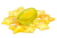 Stjärnafrukt eller Carambola Arkivfoton