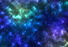 Stjärnahimlen från en dimma Arkivfoto