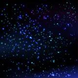Stjärnahimmelbakgrund Arkivfoton