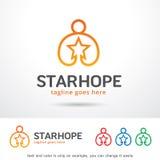 Stjärnahopp Logo Template Design Vector Stock Illustrationer