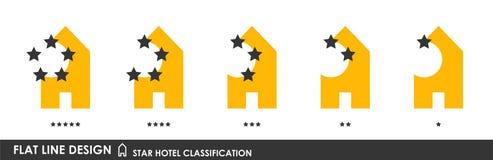 Stjärnahotellklassifikation stock illustrationer