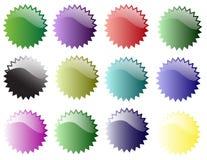Stjärnaklistermärkear av olikt färgar Royaltyfri Foto