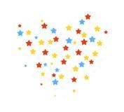 Stjärnakonfettiillustration Vektor Illustrationer