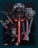 Stjärnakrig Kylo Ren Galactic Empire royaltyfri illustrationer
