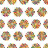 Stjärnalinje modell för färgrik symmetri för stråle sömlös royaltyfri illustrationer