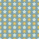 StjärnaLino Cut Texture Seamless Vector för vinter lantlig modell, knapphändig stjärnklar stil för kvartertryck stock illustrationer