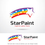 Stjärnamålarfärg Logo Template Design Vector Stock Illustrationer