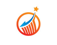 Stjärnamedel Logo Template Design Vector, emblem, designbegrepp, idérikt symbol, symbol Arkivfoton