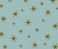 Stjärnamodell på blå bakgrund Fotografering för Bildbyråer