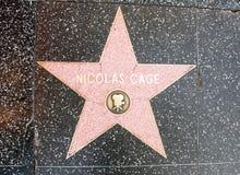Stjärnan av Nicolas Cage Arkivbilder