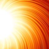 Stjärnan brustet rött och gult avfyrar. EPS 8 Arkivfoton