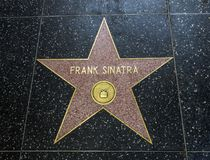 Stjärnan för Frank Sinatra ` s, Hollywood går av berömmelse - Augusti 11th, 2017 - den Hollywood boulevarden, Los Angeles, Kalifo Royaltyfria Foton