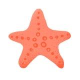 Stjärnan för havet för tecknad filmstilgrunge isolerade vektorillustrationen på vit Royaltyfri Foto