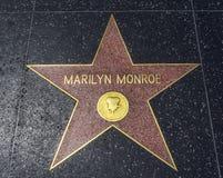 Stjärnan för Marilyn Monroe ` s, Hollywood går av berömmelse - Augusti 11th, 2017 - den Hollywood boulevarden, Los Angeles, Kalif Fotografering för Bildbyråer