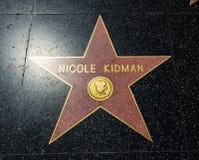 Stjärnan för Nicole Kidman ` s, Hollywood går av berömmelse - Augusti 11th, 2017 - den Hollywood boulevarden, Los Angeles, Kalifo royaltyfria foton