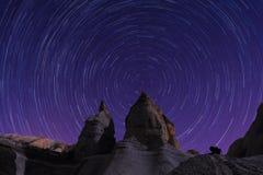 Stjärnan skuggar Cappadocia Arkivfoton