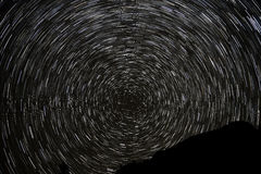 Stjärnan spårar himmelberg Royaltyfria Bilder