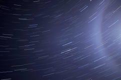 Stjärnan spårar himmelgloriautrymme Royaltyfri Fotografi
