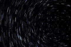 Stjärnan spårar himmelutrymme Royaltyfria Foton