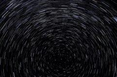 Stjärnan spårar himmelutrymme Arkivfoto