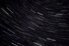 Stjärnan spårar himmelutrymme Royaltyfri Fotografi