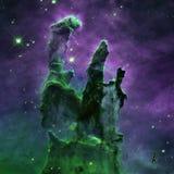 Stjärnanebulosa i utrymme Royaltyfri Fotografi