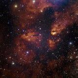 Stjärnanebulosa i utrymme Arkivfoton